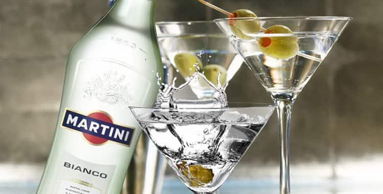 Высота бутылки мартини