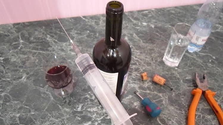 Открытие вина шприц вместо штопора
