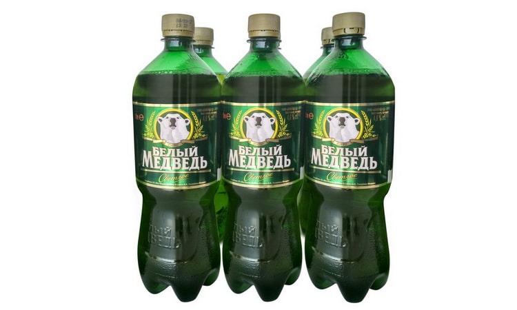 сколько градусов есть в пиве белый медведь