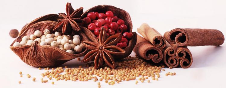 Можно также использовать различные специи и пряности.
