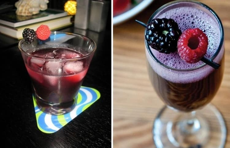 Дамам понравится такой ягодный коктейль с портвейном.