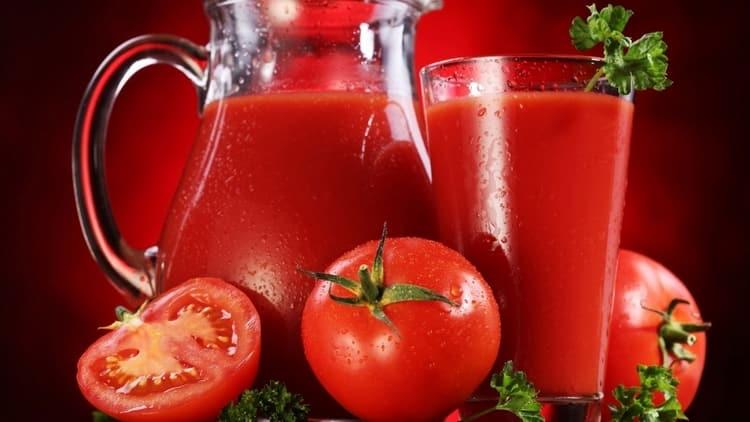 лучше всего использовать свежий томатный сок.