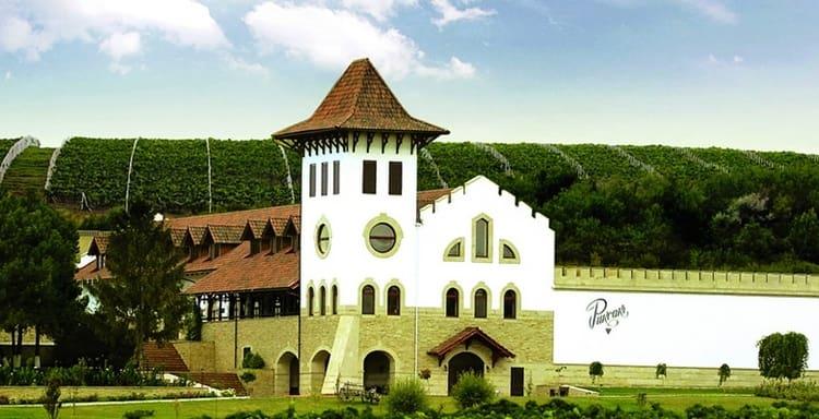 А вот знаменитый винодельческий комплекс Пуркарь.