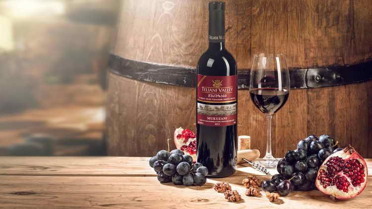 мукузани красное сухое грузинское вино