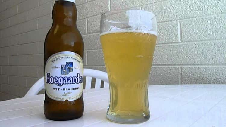 Как подавать пиво хугарден