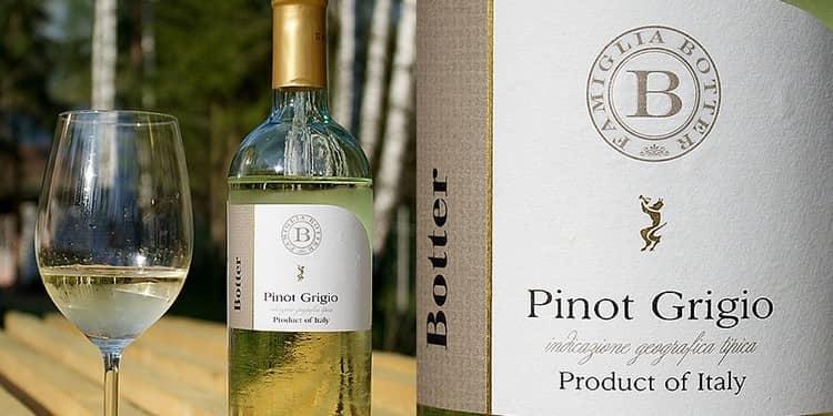 Отменным вкусом отличается вино пино гриджио белое полусухое.