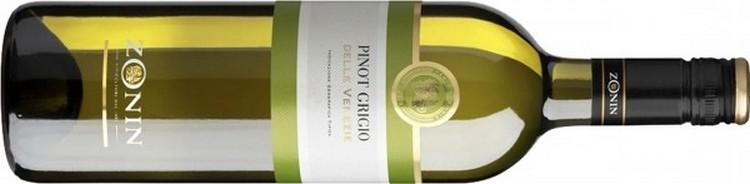 бутылка вина сорта пино гриджио.