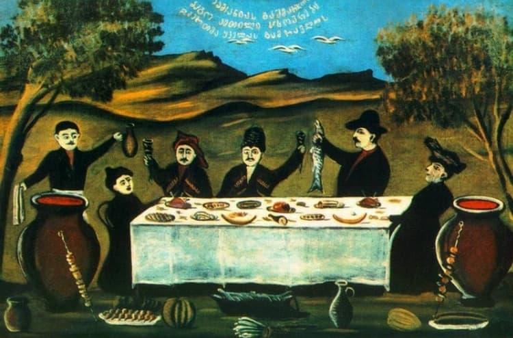 Картина художника Нико Пиросмани, в честь которого названо вино.