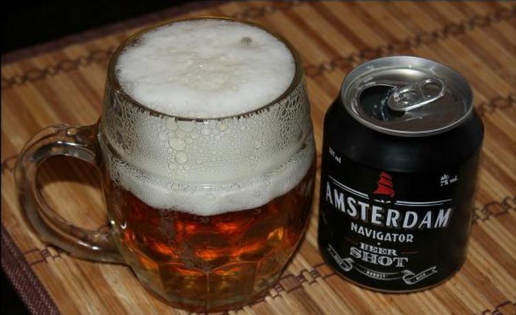 очень популярным стало пиво Амстердам навигатор.