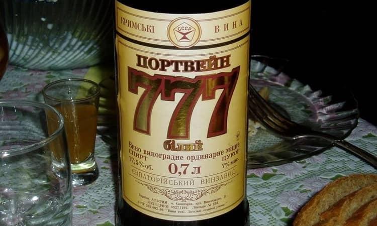 сколько градусов в портвейне 777