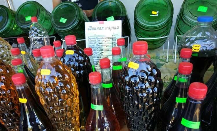 Разливные вина желательно покупать в регионах произрастания винограда.