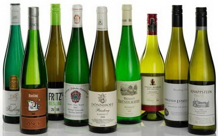 Какие есть сорта вина рислинг