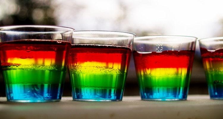 коктейль радуга алкогольный шот