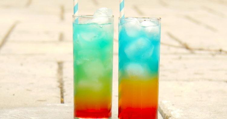 коктейль радуга безалкогольный упрощенный вариант