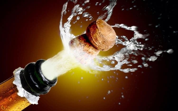что будет если заморозить шампанское
