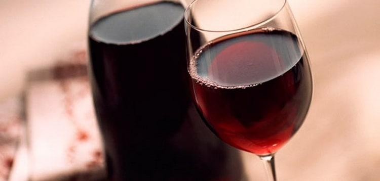 столовое красное вино и другие виды