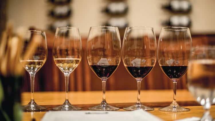 французское красное и белое вино