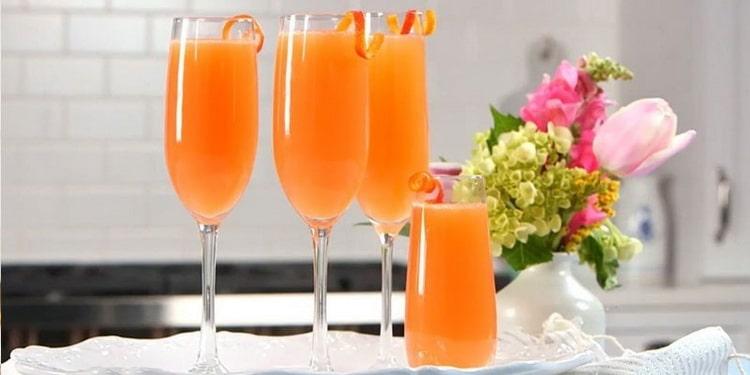 коктейль мимоза с шампанским рецепт