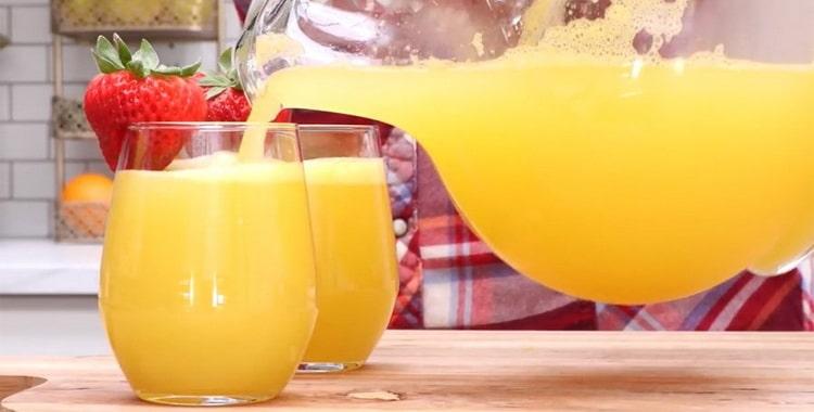 Рецепт напитка мимоза