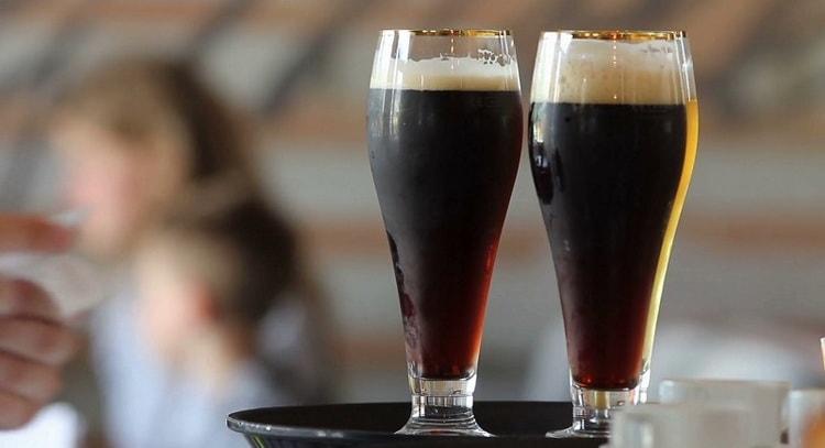 темное нефильтрованное пиво