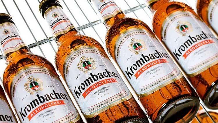 Популярным представителем светлого хмельного является Кромбахер.