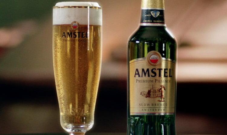 нельзя не отметить и светлое пиво Амстел.