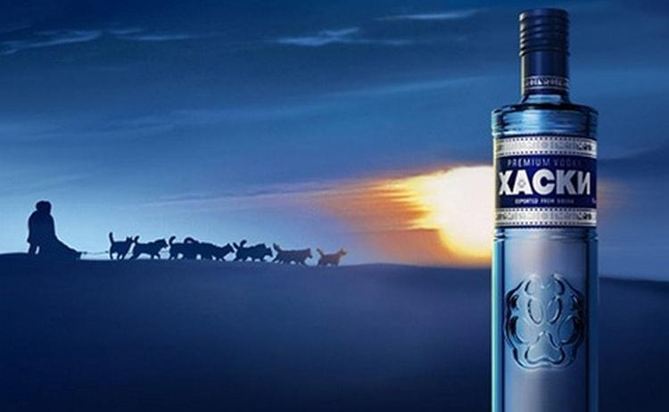 Среди лучшей водки в России нельзя не отметить Хаски.