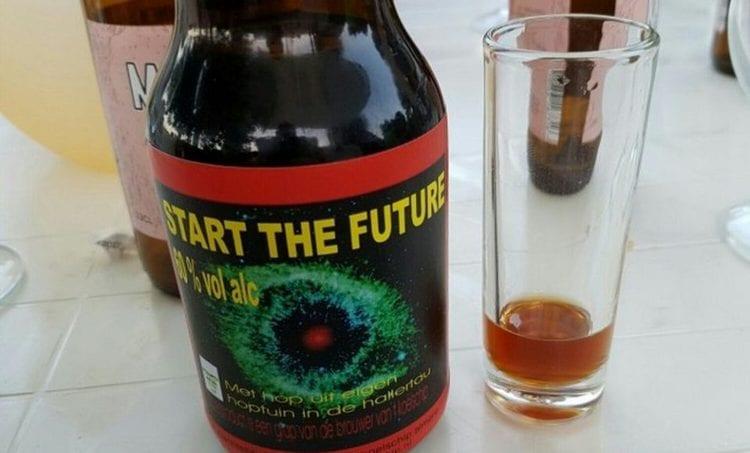 А крепость этого пива целых 60%.