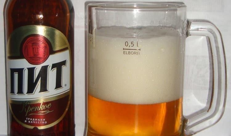 На фото вы видите знаменитое пиво ПИТ.