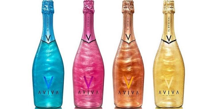 красивое перламутровое шампанское