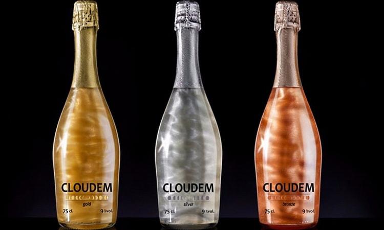 шампанское с блестками перламутровое