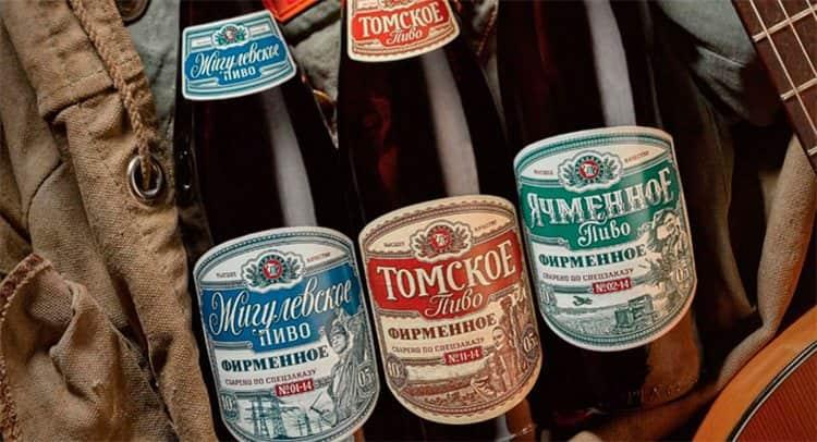 Большой популярностью пользуется Томское фирменное пиво.