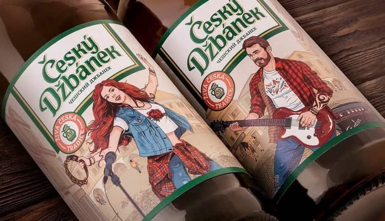 Есть в линейке и Томское Чешское пиво.