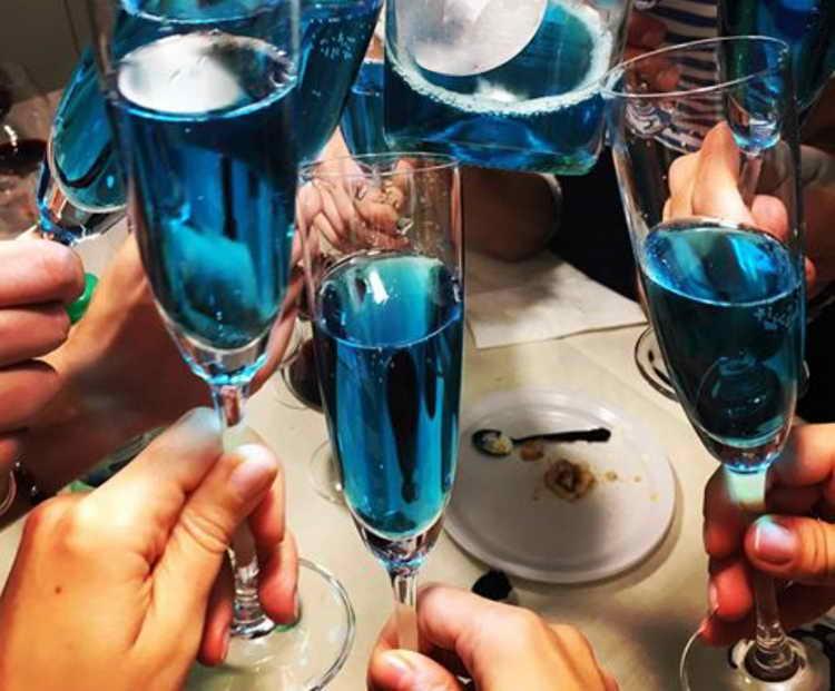 голубое шампанское blue platino