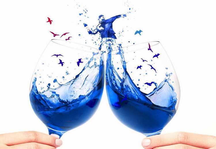 голубое шампанское blue moscato