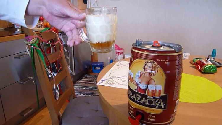 пиво крушовице в бочонках 5л