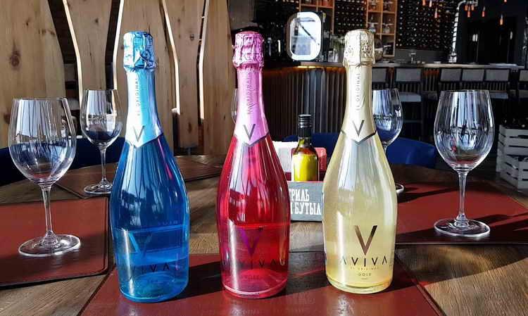 блестящее шампанское aviva