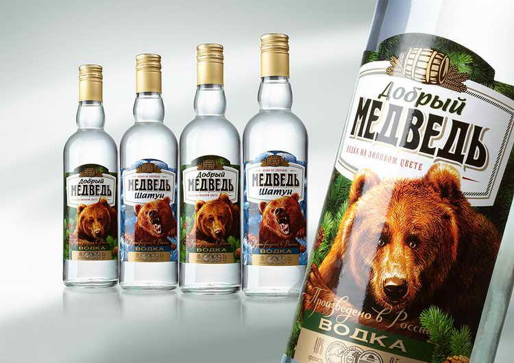 водка три медведя