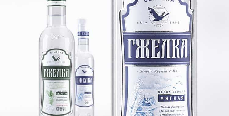 Обзор водки Гжелка
