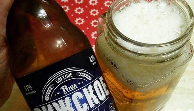 Пиво Рижское обычно светлое.