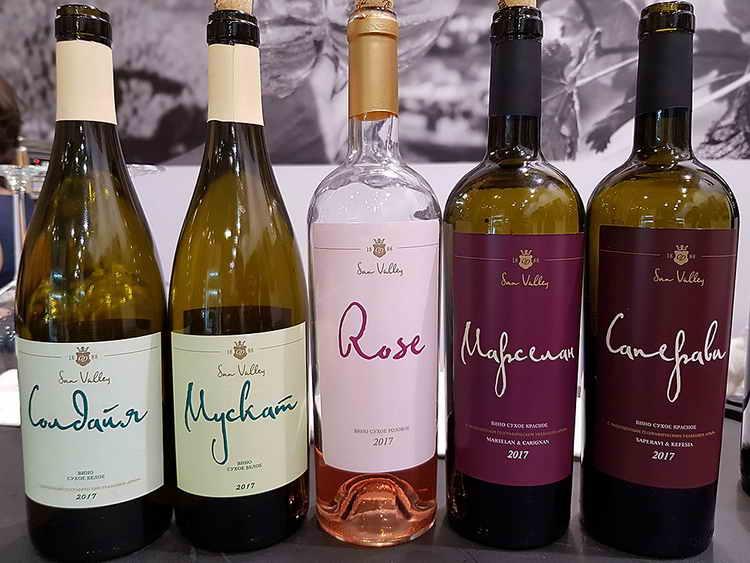 Вино Солнечная долина Каберне