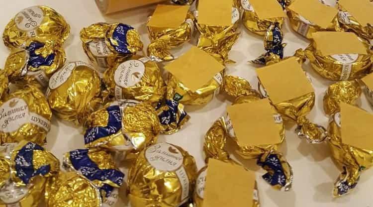 подготовьте конфеты