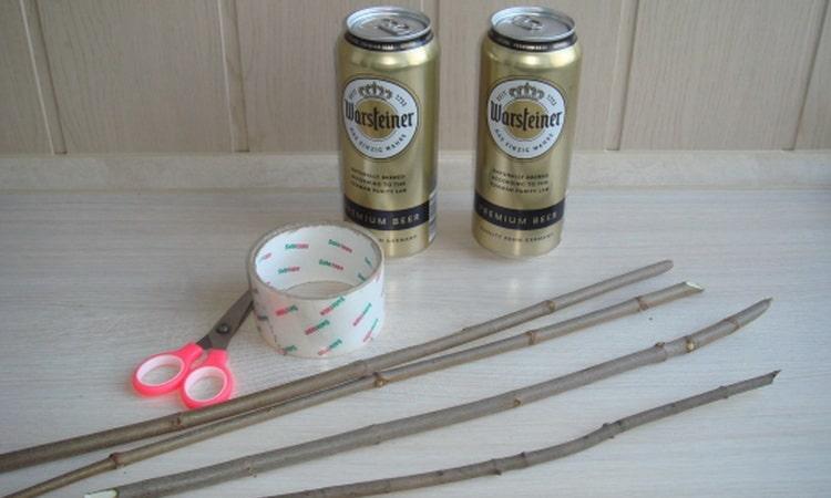 Ингредиенты для букета из пива и рыбы своими руками