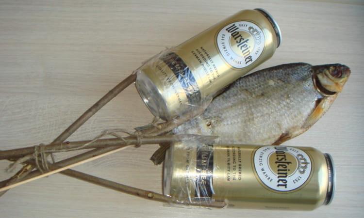 букет из пива и рыбы как сделать