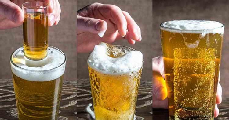 коктейли с пивом Полный нокаут