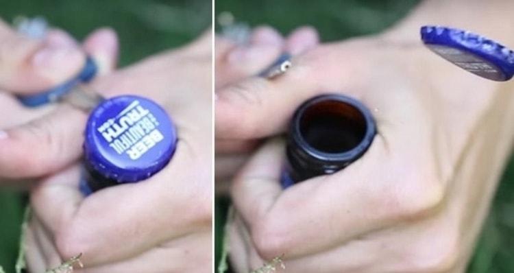 Один из методов, как открыть пиво без открывашки, это использование ключа.