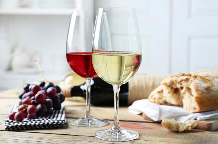 сколько калорий в вине