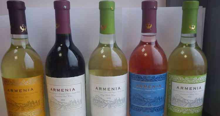 Палитра цветов вин армении